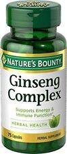 Nature's Bounty Ginseng Complex Plus Royal Jelly 75 Caps 2 PK