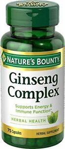 Nature-039-s-Bounty-Ginseng-Complex-Herbal-Health-Capsules-75-ea