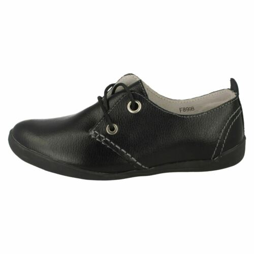 Ladies F8998 Black leather lace up shoe  by DOWN TO EARTH SALE NOW £5.99