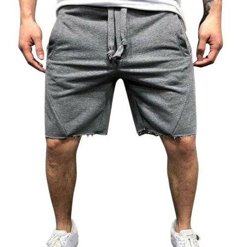 Men GYM Fitness Shorts Running Sport Workout Casual Jogging Sweat Pants Trousers