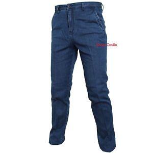 Jeans Pantalone Uomo Tasca America Classico Vita Alta 48 50 52 54 56 58 60 Magli Produire Un Effet Vers Une Vision Claire