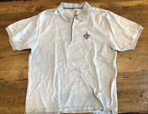 New Orleans Saints Mens XL Polo Shirt Reebok Prestige Sport NFL Gray ... e7c1f4f3b