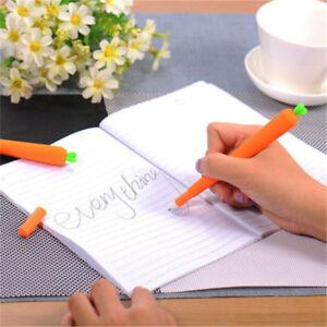 2pcs-Novelty-Cute-Carrot-Ballpoint-Pencil-Pen-Kids-School-Office-Stationery-Gift