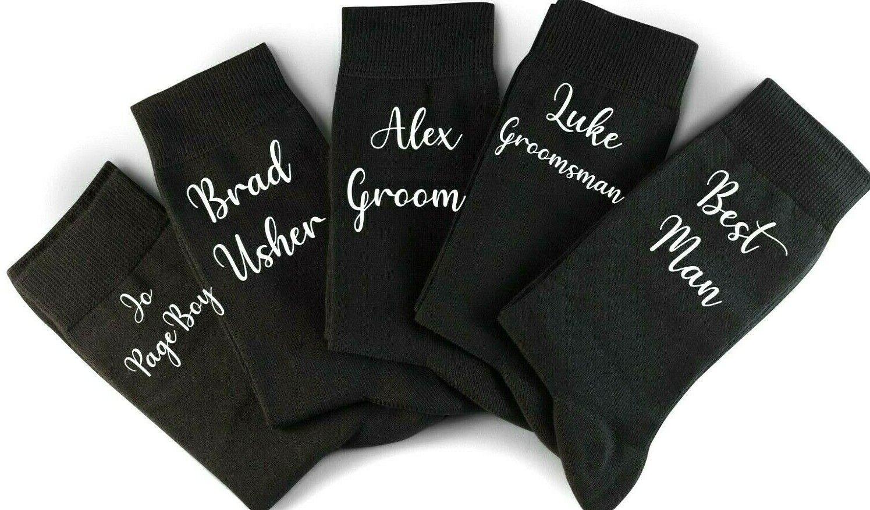 Wedding Socks Personalised , Socks For Groom, Gift For Best Man, Groomsman