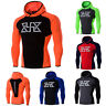 Mens Workout Hoodie Gym Muscle Pullover Sweatshirt Cotton Long Sleeve T-Shirt
