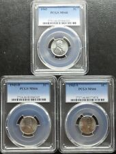 1943-P+D+S Steel 3-Coin Set Lincoln Cent NGC MS65 WWII Label SKU49645
