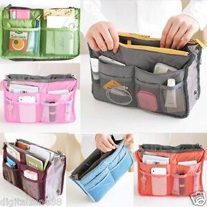 Image Is Loading Women Travel Insert Handbag Organiser Purse Large Liner