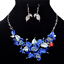 Women-Chunky-Fashion-Crystal-Bib-Collar-Choker-Chain-Pendant-Statement-Necklace thumbnail 74