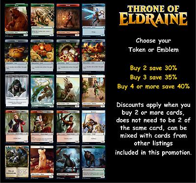 MTG Throne of Eldraine ELD Choose your Token New In Stock Multi-Buy Discount