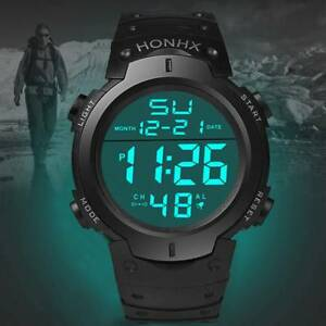 Sports-Electronic-Watch-Adult-Student-Men-039-s-Big-Screen-LED-Electronic-Watch
