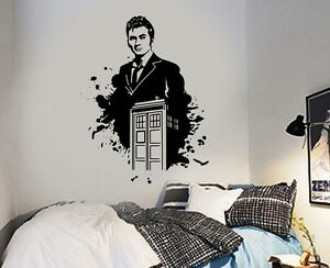 Image Is Loading Dr Who And Tardis David Tennant Wall Sticker  Part 50
