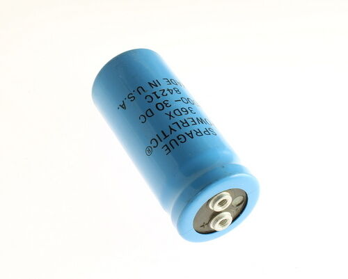 Lot of 2 Sprague 36DX802G030AB2A 8000uF 30V Large Can Electrolytic Capacitor
