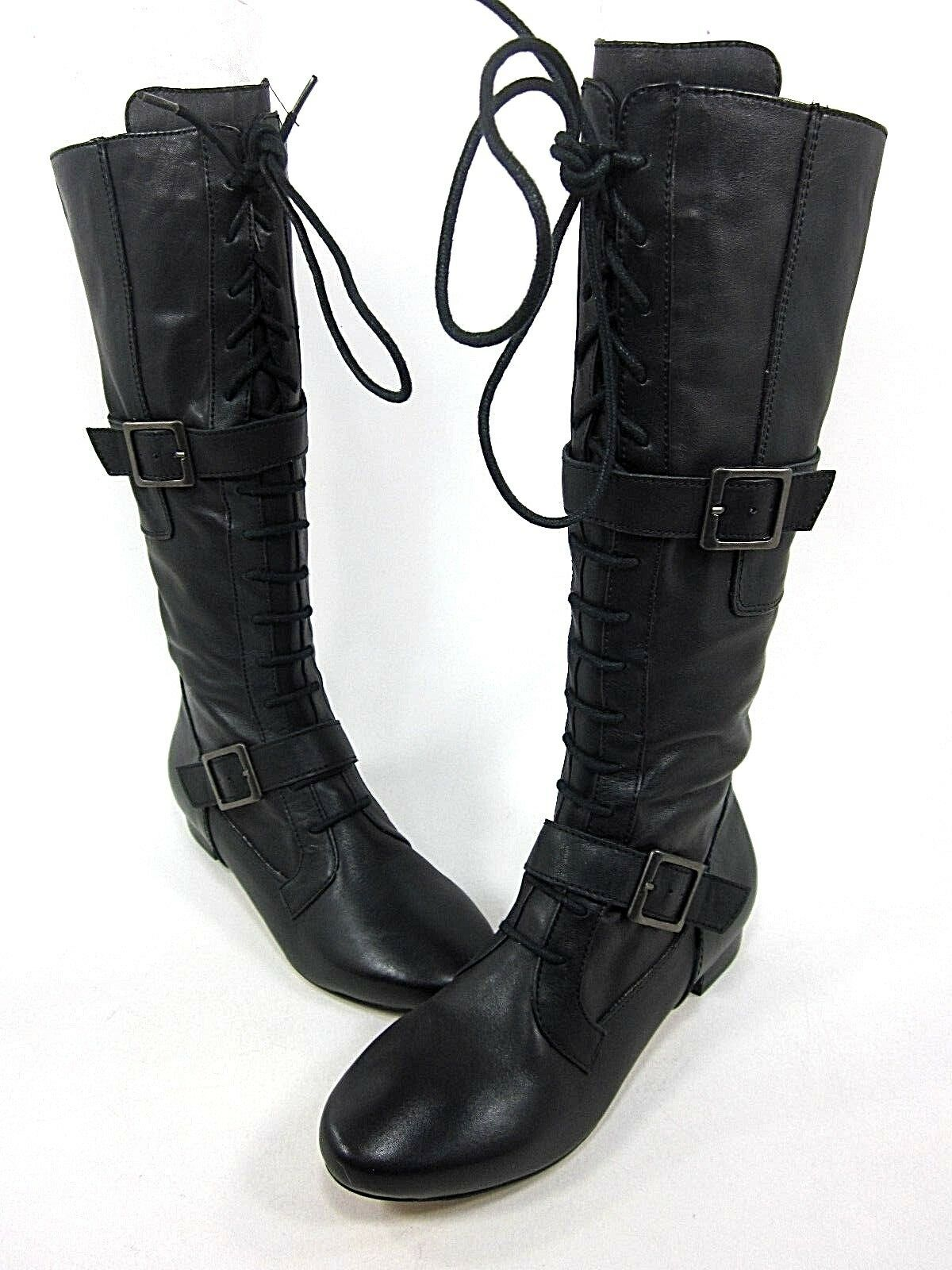 FARYLROBIN, LANCE, KNEE-HIGH BOOT, WOMENS, BLACK, US 6M, LEATHER, NEW W/O BOX
