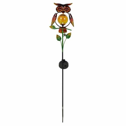 Solar LED Owl Stake Light Garden Lawn Ornament Outdoor Waterproof Novelty Lamp