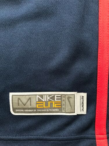 NIKE BASKETBALL T-SHIRT ELITE BLUE AND RED KIDS JERSEY SLEEVELESS OFFICIAL NEW