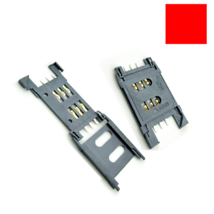 5x Sim Card Slot Connector Tray Socket Handset Phone Plastic Open-Cover Type