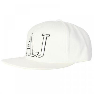 Armani Jeans Large AJ Logo Cap In White