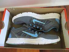 BNIB Nike Flex Trainer 4 women's running shoes size 6.5 Drk Gry/Unvrsty BL