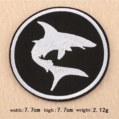 Black Badges Embroidered Iron on Patch Cool Emblems Rock Punk DIY Hat Bag Crafts