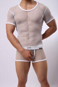 Sexy ou Blanc N Ensemble Slip shirt Transparent T Taille Neofan Boxer oCBdex