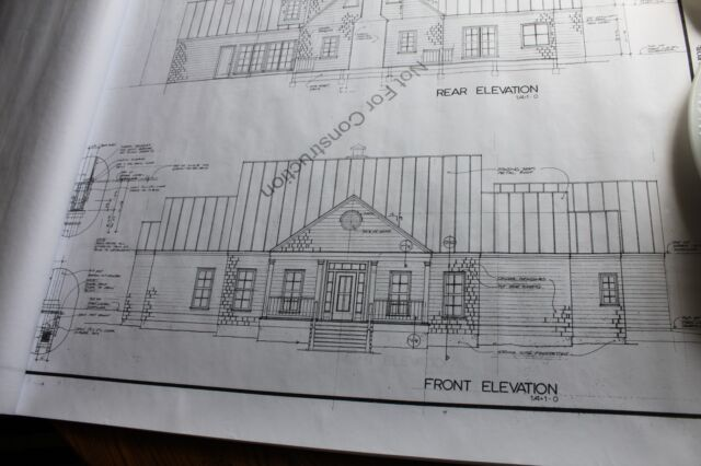Builders Blueprint House Plan Southern Living Design 1 1/2 story 2690 sq ft