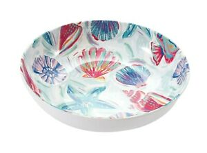 Summer Melamine Round Cereal Bowl Shell Sealife Beach Ice Cream Dessert Colorful