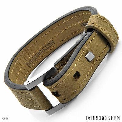 DYRBERG//KERN of DENMARK Bracelet Made of StSl /& Black Leather