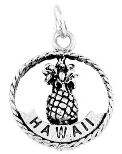 Sterling Silver Hawaii Aloha Ananas Charm//Pendentif
