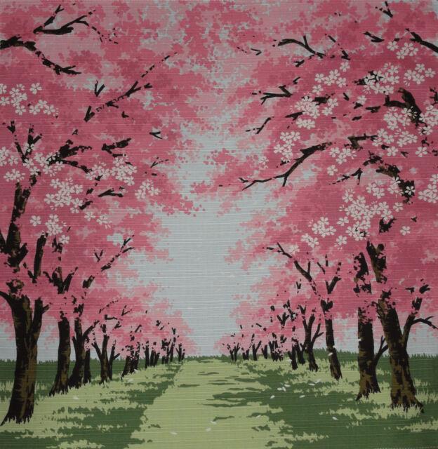 Furoshiki Wrapping Cloth Japanese Cherry Blossom Fabric Sakura Road Cotton 50cm