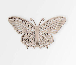 Wooden Shape Tribal Butterfly, Wooden Cut Out, Wall Art, Home Decor,Wall Hanging