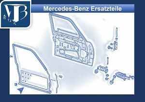 Mercedes-Benz-W126-260SE-Door-Seal-Sealing-Frame-Front-Left-Driver-Side