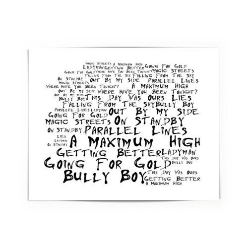 Framed Original Art A Maximum High Shed Seven Poster Album Print Lyrics Gift