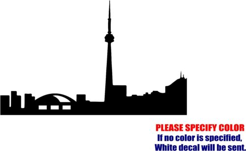 Toronto City Silhouette Decal Sticker Funny Vinyl Car Window Bumper Truck 12/""