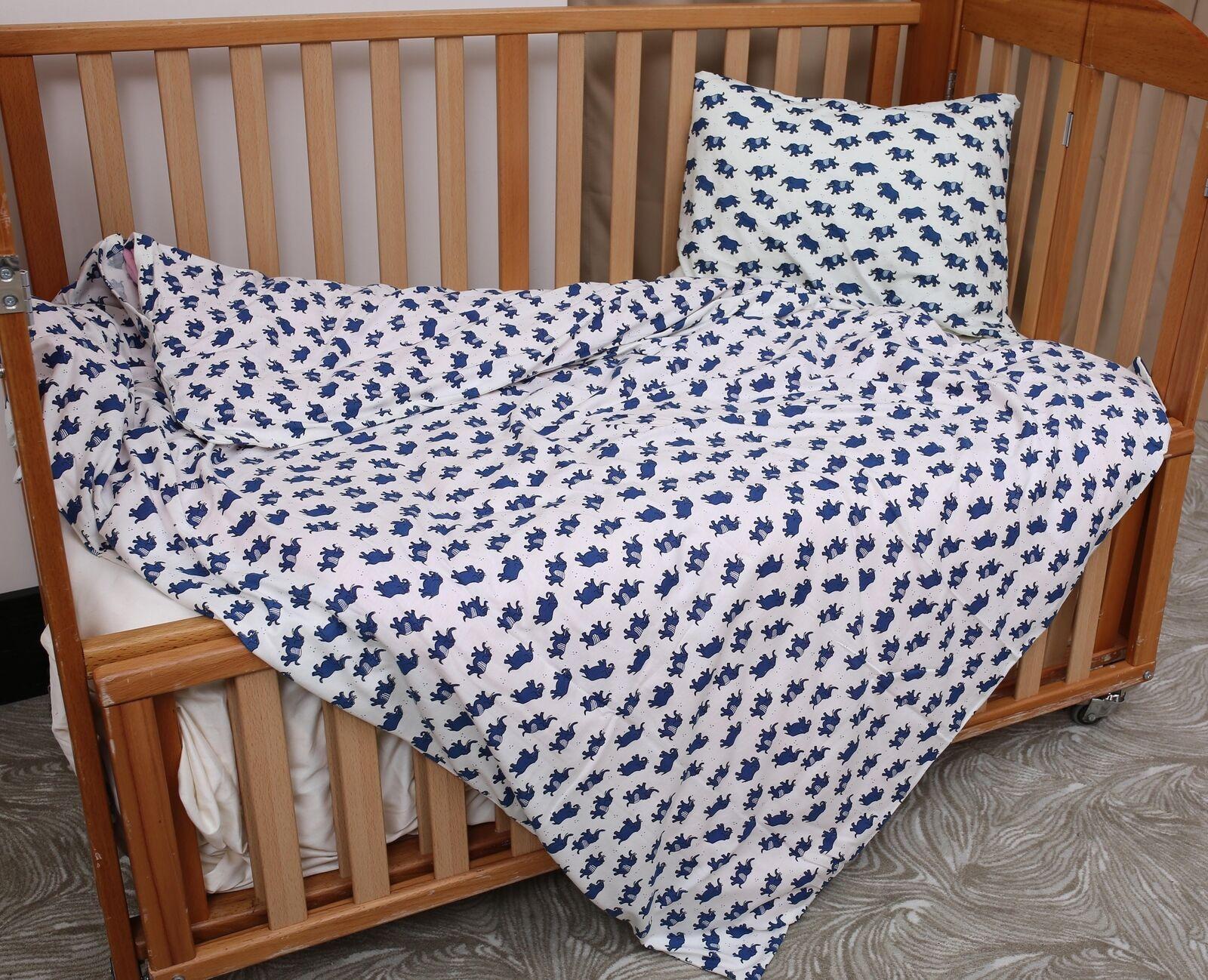 2Tlg. Baby Bettwäsche Bio-Baumwolle GOTS Bettwäsche Kinderbettwäsche 100x135cm