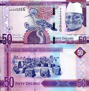 GAMBIA 10 Dalasi Banknote World Paper Money UNC Currency Pick p21 Bird Bill Note