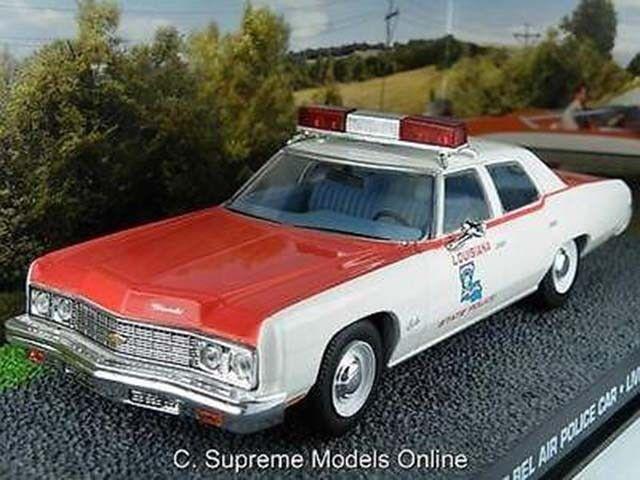 CHEVROLET BEL AIR JAMES BOND POLICE CAR MODEL 1 43RD WHITE RED EXAMPLE T3412Z(=)