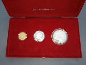 1000 Jahre Ostarrichi Pp 5,25,50 Ecu 1996 Silber Gold Eiamaya