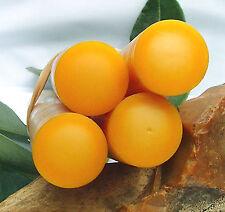 ** 4 ** Rods Old GALALITH  YELLOW slighty Orange ** Diam 22 mm