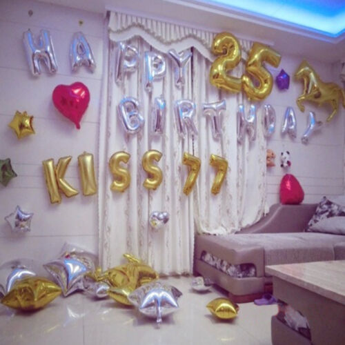 New Foil Letters Balloons Year Birthday Party or Wedding Adornment love Ballon