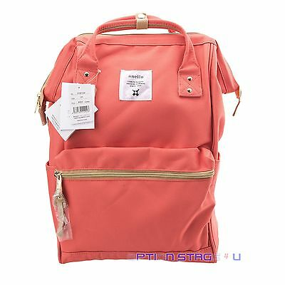 Anello Orange Pink Japan Unisex Fashion Backpack Rucksack Diaper Tablet Bag