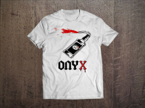 Onyx Hombres Blanco Rap Camiseta Tee Shirt Ventilador de hip hop mad cara