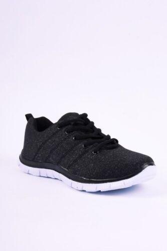 Ladies Women Memory Foam lace up Trainers Gym Sneakers Sport Plimsolls 267591//64
