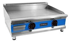 """Uniworld 30"""" Single Thermostat Natural Gas Griddle with °F and °C Adjustable Dua"""