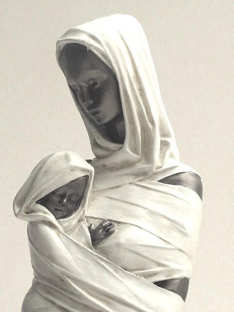 Ed van Rosmalen Candide Mutterliebe 52 cm Figur Skulptur - 20104