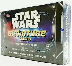 Star Wars Signature Series Hobby Box Topps 2021