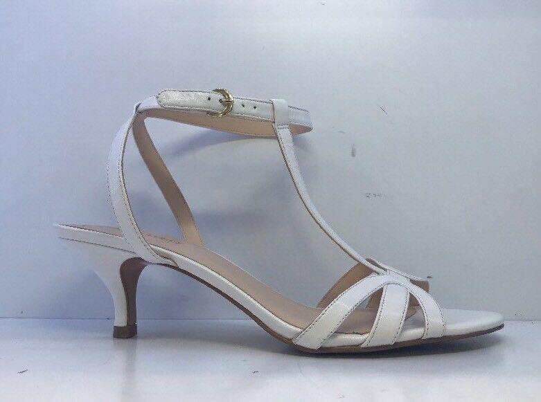 Nine West Ladies White Peep Toe Heels Uk 7.5M