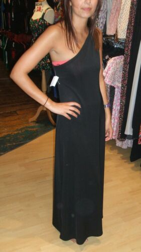 Baylis /& Knight BLACK One Shoulder JERSEY MAXI DRESS Elegant Flattering Festival