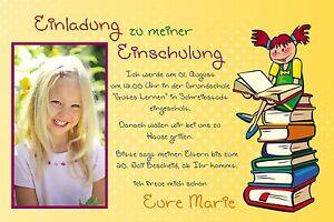 Das Bild Wird Geladen 10 Einladung Einschulung Schulanfang  Danksagung Fotokarte Foto Karte