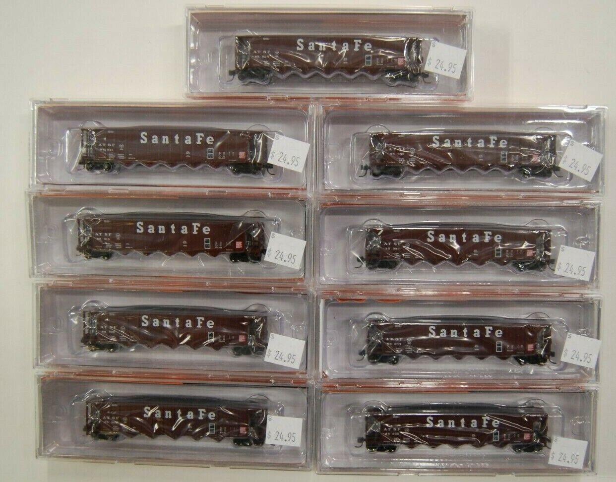 N Scale Fox Valley Models 83602, Ortner Hopper, Assortment 9 x Santa Fe (1-9)