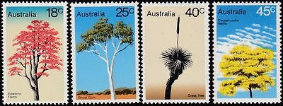 1978 TREES SET OF (4)  MINT UNHINGED